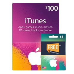 Apple iTunes $100 Gift Card + $5 Free - USA (iTunes Gift Cards)