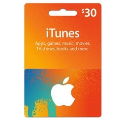 Apple iTunes $30 Gift Card - USA ()