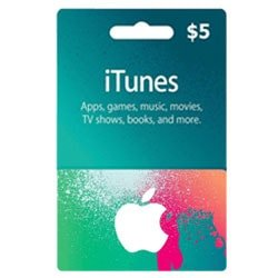 Apple iTunes $5 Gift Card - USA ()