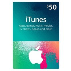 Apple iTunes $50 Gift Card - USA (iTunes Gift Cards)