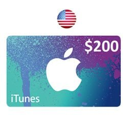 Apple iTunes $200 Gift Card - USA (iTunes Gift Cards)