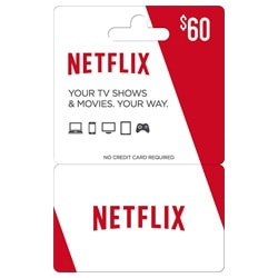Netflix Gift Card $60 (Best Offers)