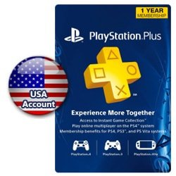 PSN Plus Card 1 Year (US) (PSN Cards - USA)