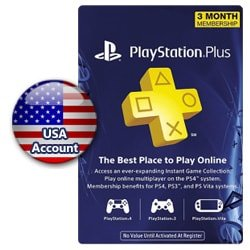 PSN Plus Card 3 Months (US) (PSN Cards - USA)