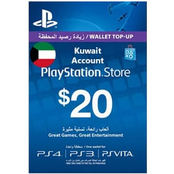 Sony PlayStation Network Card $20 - Kuwait ()