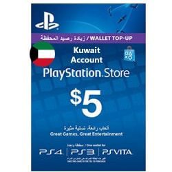 Sony PlayStation Network Card $5 - Kuwait (Offers)