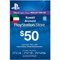 Sony PlayStation Network Card $50 - Kuwait ()