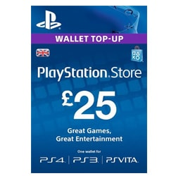 Sony PlayStation Network Card £25 - UK (PSN Cards - UK)