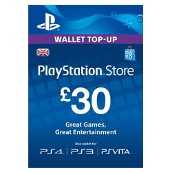 Sony PlayStation Network Card £30 - UK (PSN Cards - UK)