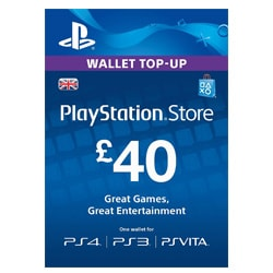 Sony PlayStation Network Card £40 - UK (PSN Cards - UK)