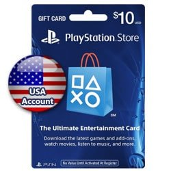 Sony PlayStation Network Card $10 - USA (PSN Cards - USA)