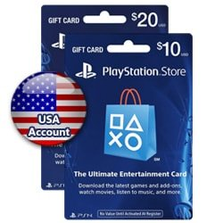 Sony PlayStation Network Card $20+$10 - USA (PSN Cards - USA)