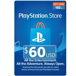 Sony PlayStation Network Card $60 - USA (PSN Cards - USA)