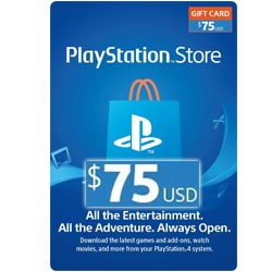 Sony PlayStation Network Card $75 - USA (PSN Cards - USA)