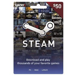 Steam Wallet Gift Card $50 (Steam Wallet Cards)
