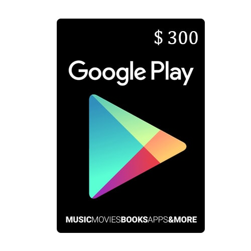 Google Play Card $300 - USA