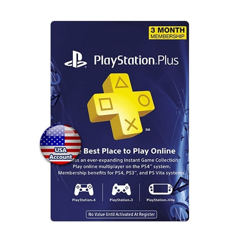 PSN Plus Card 3 Months (US)