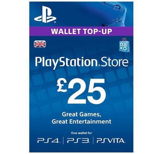 Sony PlayStation Network Card £25 - UK