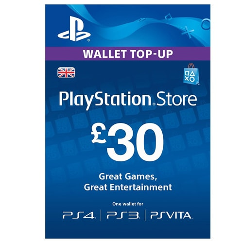 Sony PlayStation Network Card £30 - UK