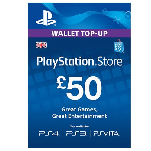Sony PlayStation Network Card £50 - UK