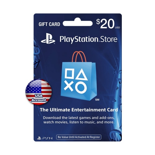 Sony PlayStation Network Card $20 - USA