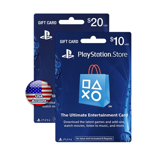 Sony PlayStation Network Card $20+$10 - USA