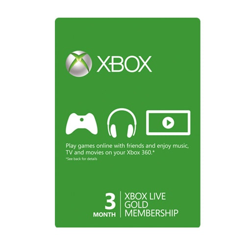 Xbox Live Card 3 Month - USA